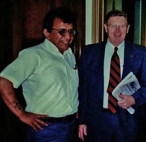 Roland and Senator Conrad Burns, 1997
