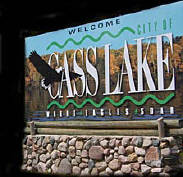 Cass Lake Welcome sign